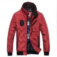 Free shipping ! ! ! Winter clothes Korean fashion brand men's warm jacket coat black red blue M-XXL