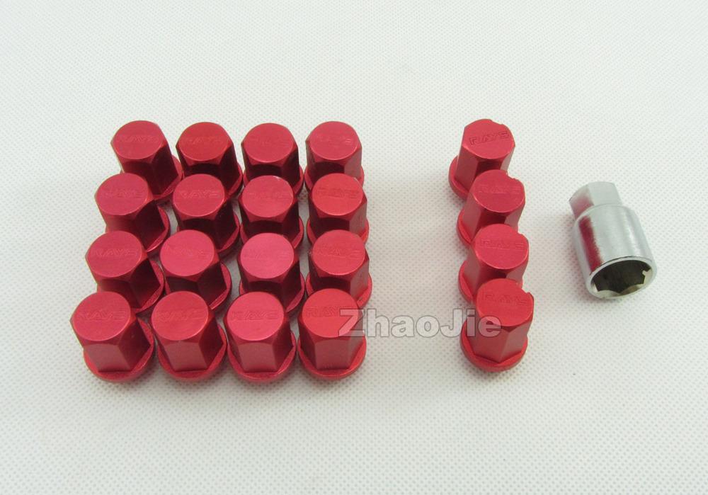 Red M12 X 1.5 20pcs Wheel Rim Racing Lug Nut Set Short Style RAYS For most Nissan Infiniti Subaru Suzuki Mazda(China (Mainland))