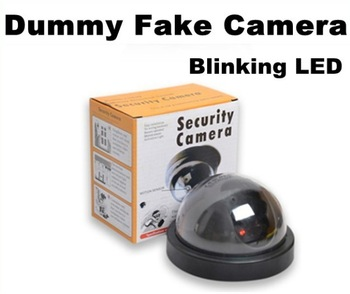 3pcs Emulational Fake Decoy Dummy Security CCTV DVR for Home DOME Camera with Red Blinking LED