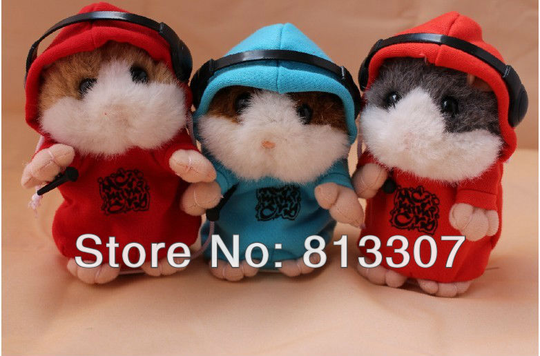 MC DJ Rapper Early Learning Wear Clothes Hamster Talking Toy for Kids Repeat Talking Hamster Toy(China (Mainland))