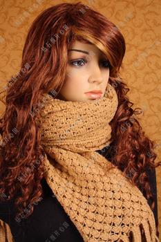 Pineapple flower plain tassel scarf cape chromophous 340005