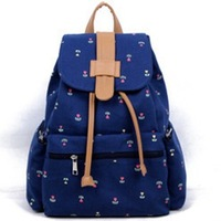 Free shipping!women's backpack student school bag girls canvas backpack 4 colors