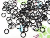 Free shipping  500 pcs of black Jump Rings 0.7mmx5mm