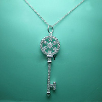 925 Necklace Mix wholesale Best selling link chain Key pendant necklaces 925 sterling silver jewelry for women silver necklace