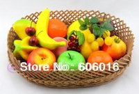 one set Fashion 12 Kinds Imitated Nice Fruit Set Home Decor Artificial Fruit Home Deor nd100