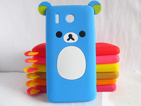 Cute Rilakkuma Bear Silicone Case Cover For Huawei Ascend G510 U8951 T8951 (HW05),Multicolor,Free Shipping