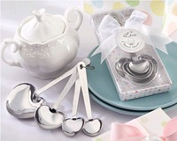 "5 SET/LOT ""Love Beyond Measure Measuring Spoons in Gift Box (Set of 4 ) wedding favors and gifts Free shipping"