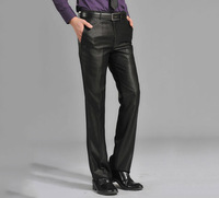 Western-style trousers male slim western-style trousers suit pants commercial casual western-style trousers glossy male thin