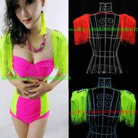 Fashion tassel neon costumes clothes ds costume