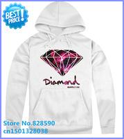 free shipping Cheap diamond supply Men's Diamond supply co white color sweatshirt hoodie hip hop style free dropshipping