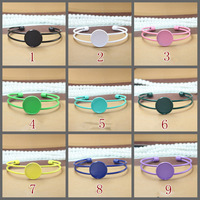 Bracelet Blank With 20mm Round Bezel Setting,Trays,Cuff,Adjustable,Paint Color Plated Brass,Wholesale,cabochon settings