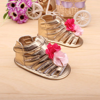 2013 Hot Selling Beautiful Golden Flower Baby girl shoes Summer baby sandal shoes first walkers baby toddlers Wholesale