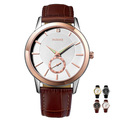 Renault genuine leather watchband ultra-thin quartz watch mens watch large dial watch popular strap waterproof