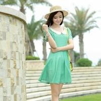 2013 summer multicolour classic stripe short-sleeve dress 1365