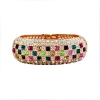 Fashion Victorian Queen Colorful Crystal Jewelry  Luxury Austria Crystal Bangle Free shipping B1730