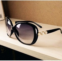 Elegant pearl rubric circle sunglasses glasses large size big vintage retro women sunglasses Drop Shipping 086