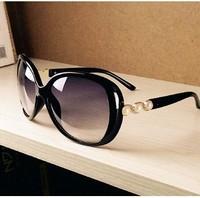 Elegant pearl rubric circle sunglasses glasses large size big vintage retro women sunglasses Drop Shipping 086