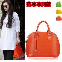 2014 bag toothpick water ripple shell handbag bag platinum candy women's handbag