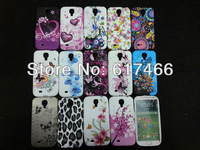 10 purple rose Flower,gerbera,glory,jellyfish,heart and butterfly TPU Soft silicon Case Fits for Samsung S4 mini I9190 mix style