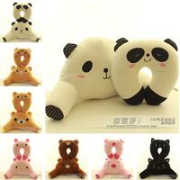Cartoon animal doll lumbar support neck pillow nap pillow plush toy gift