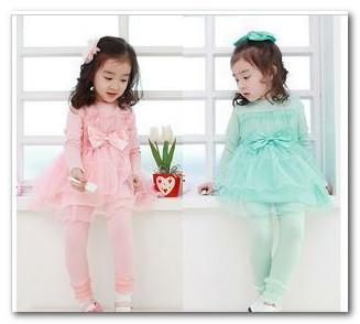 New Korean Kids Children Girls Adorable Long Sleeve Tulle Tutu Dress Princess Dress Holiday Dresses 2015