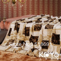 Genuine Vico textile grade Koyo double wedding raschel blankets thick winter blanket blanket lapel
