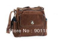 Hot sale Baby Diaper bag Mami bag Nursery baby Care Nappy Carrier bag brown Free shipping