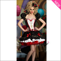 2013 New Deluxe Halloween Costume Luxury Queen Costume Dazzling Heart Cosplay Women Adult Dress