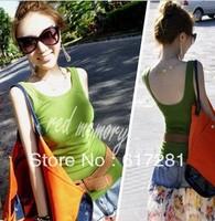 All-match Halter h vest vest bottoming shirt is soft and comfortable cotton padding vest dress
