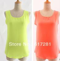 Hot sales chiffon vest vest sleeveless loose-fitting sleeveless vest harness code bottoming shirt