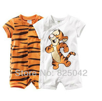retail boy short sleeve romper baby cotton polo bodysuits Ronny Turiaf design jumpsuits cartoon tiger bodysuits Free shipping