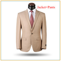 New Arrival Men Business Suit 100% Wool High Quality Dress Suit Wedding Tuxedo One Button Size S-5XL