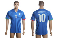 13-14 Thailand series italy national team home  #10 Cassano soccer uniforms short, men's football jersey size S-XL