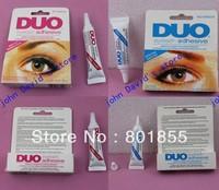 100pcs/lot  BLACK AND WHITE, DUO eyelash adhesive waterproof False eyelashes glue 9G eyelash glue / can mix colors Free shipping