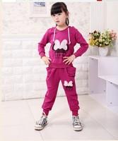 2013 children's clothing han edition bowknot autumn new mickey girl suit children cotton sport suit