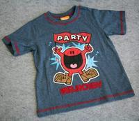 Target-mr . men show mr . noisy grey 100% cotton male short-sleeve T-shirt child