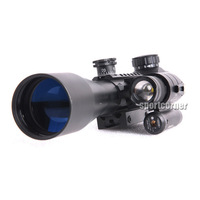 brand 3-9X40 E weaver rail hunting rifle scope with red Laser dot 501B flashlight free shipping hunting gun accessories Tactical