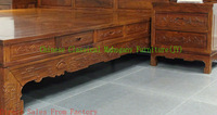bedroom furniture solid wood bed  king  queen bed  Antique mahogany bed