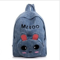 gilrs lovely canvas student  school bag for child backpack bag