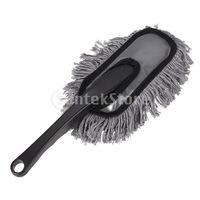 Free Shipping Car Remove Dust Cleaning Duster with Handle - Grey