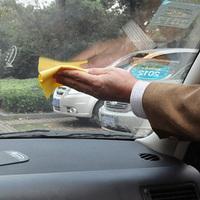 Vehicle glass antifogging towel