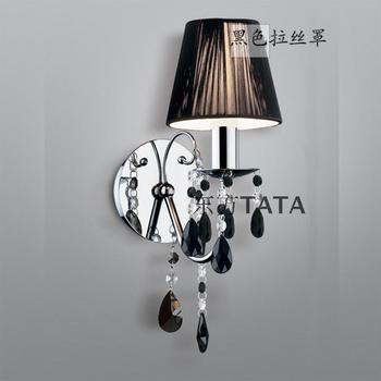 Brief fashion crystal wall lamp bedroom wall lamp bedside wall lamp single head double slider lighting lamps tb-88023
