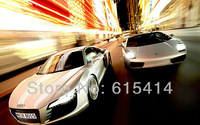"46 Lamborghini Audi twins silver vehicles 38""x24"" Inch Wallpapr Sticker Poster"