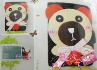 Croppings diy handmade material kit bow big baby bear multi-layer card holder