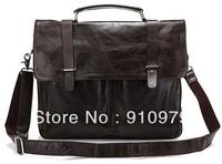 2014 new Brand New Real Vintage Cow Leather Men's Briefcase Laptop Bag Handbag Messenger bag #6057J Hot Selling