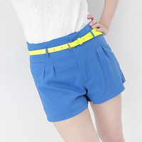 2013 summer brief all-match slim high waist solid color chiffon shorts female ae268