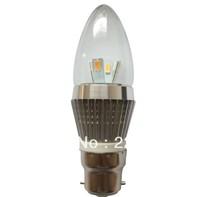 Led candle light 10pcs 6W  B22( B15 E27) LED candle bulb,LED lamp,warm/cool white,  CE&RoHS Warranty 3 years