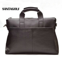 Handbag male cowhide commercial briefcase laptop bag male cross body bags laptop bag