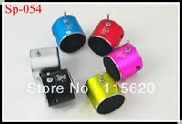 2013 Hot Sell Portable LED Mini Speaker Subwoofer Sound Box Cell Phone Laptop Tablet FM TD-V36 DHL Free Shipping