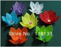 Free EMS shipping 200pcs/lot NEW Chinese Paper Lotus Flower Floating Lanterns Birthday Wedding Party